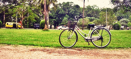 Learning How To Ride A Bike In Siem Reap