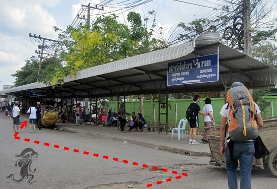 entrance to the thailand immigration office in Aranyaprathet