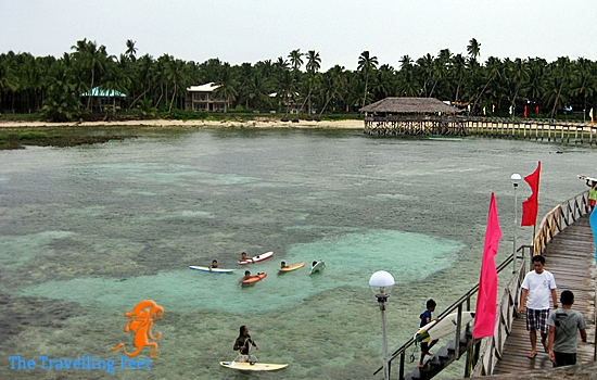 boardwalk in siargao for surfing viewers