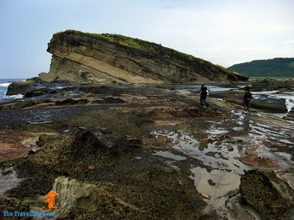 on our way to Magaspad Rock formation in Biri Island