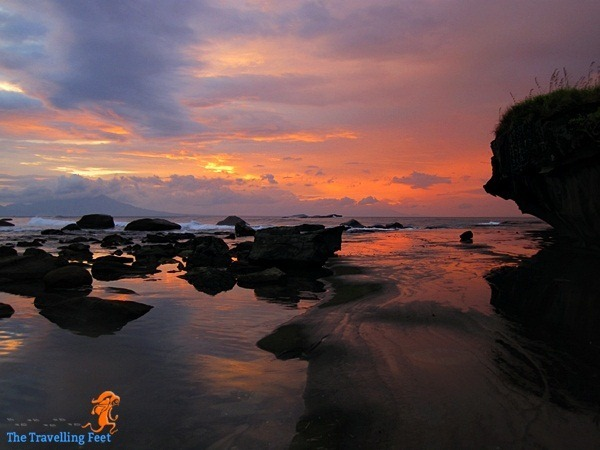 Sunset at Biri Rock Formations