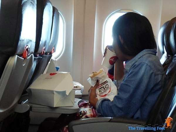 breaking the fast onboard Air Asia Zest bound for Kuala Lumpur