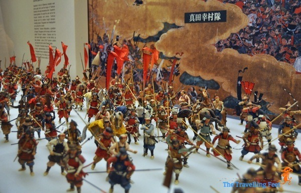 miniature of intense battle between Sanada and Matsudaira during the Summer War in Osaka, Japan