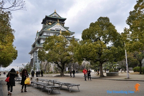 open ground at the Osaka Castle