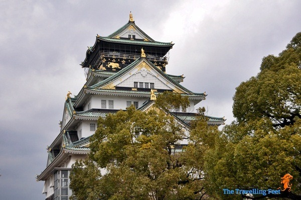 the Osaka Castle in Japan