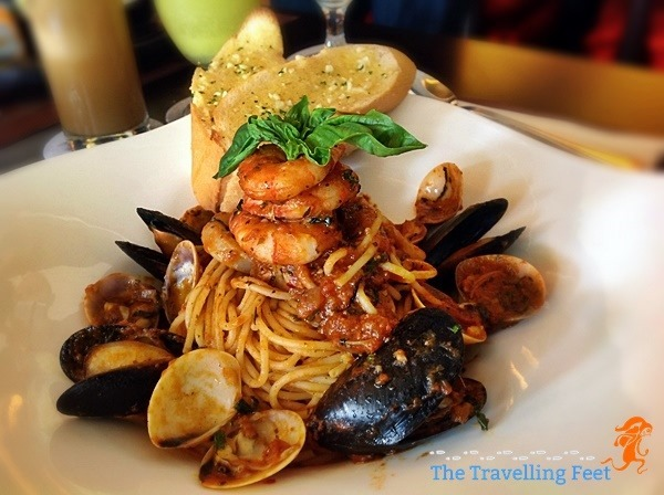 Spaghetti Cioppino at Luxent