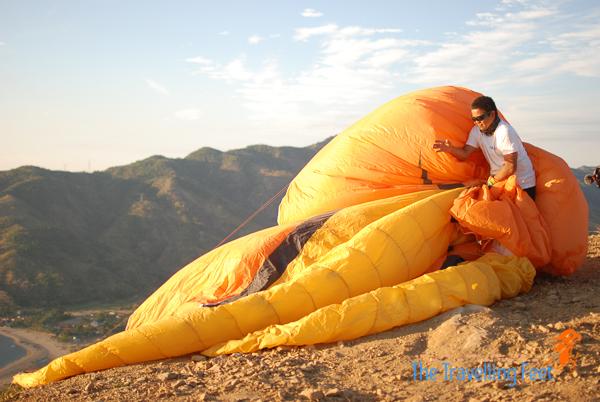 Buko Raymundo covered in wings