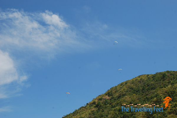 up up and away as they paraglide