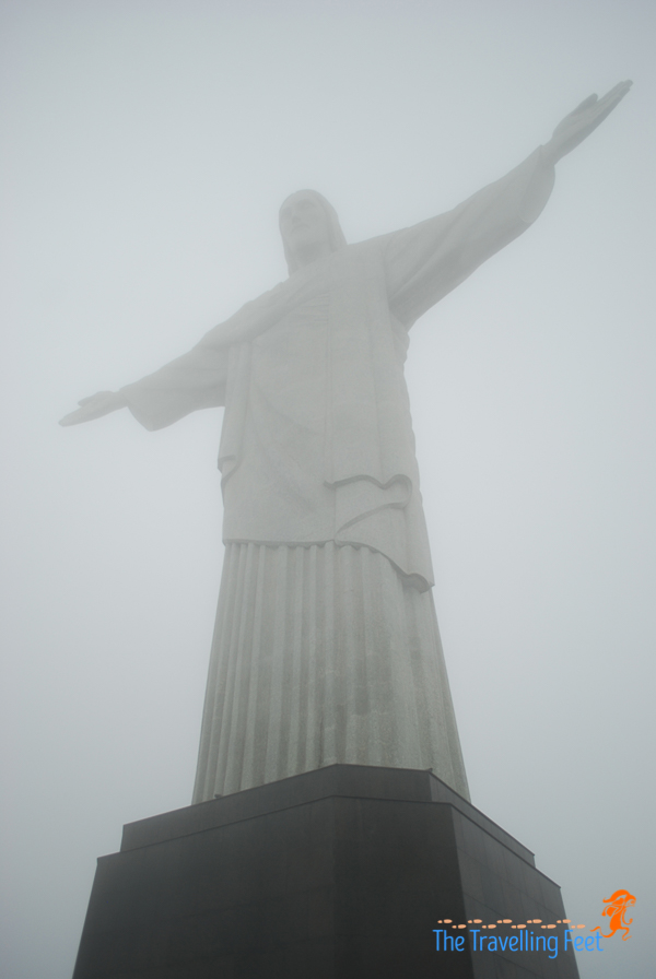 foggy view of christ the redeemer