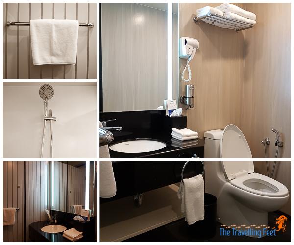 holiday express inn toilet and bath