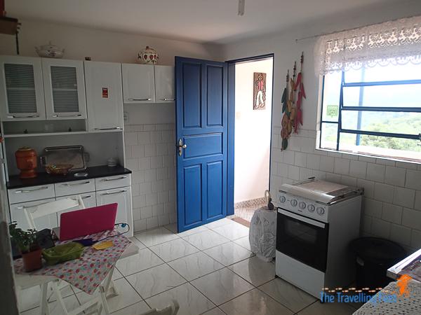 small hostel kitchen