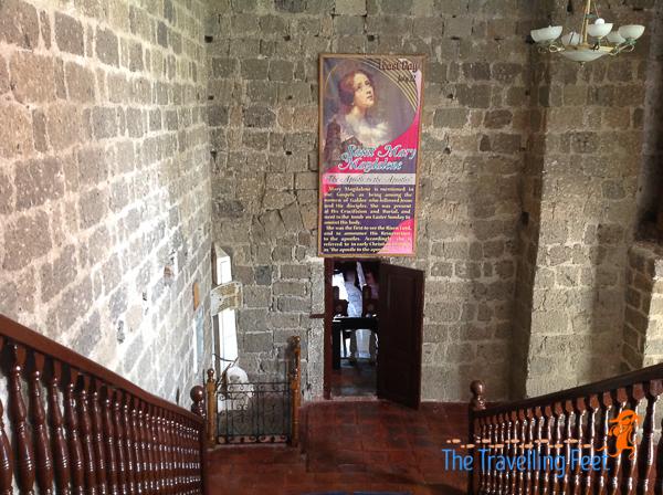 staircase at magdalena church laguna