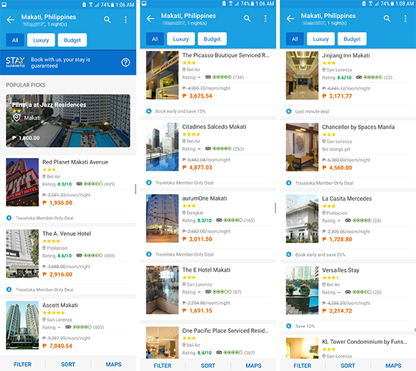 looking for hotels in traveloka