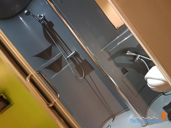 bathroom at pop hotels
