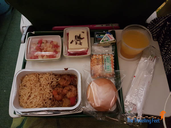 1st meal with Ethiopian Airlines - Manila to Brazil flight