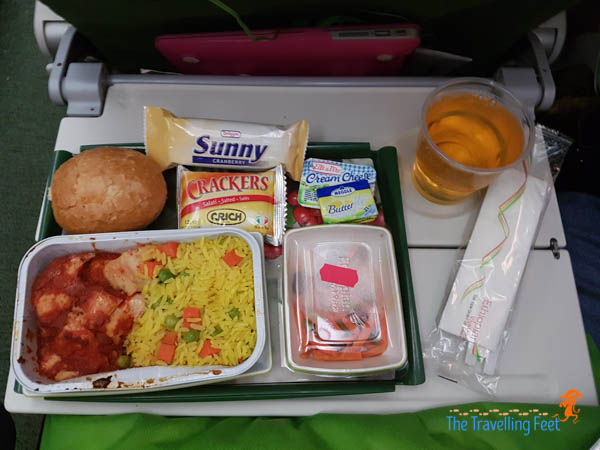 7th meal Ethiopian Airlines - Manila to Brazil