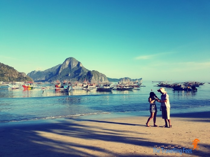 morning walk at El Nido Beach