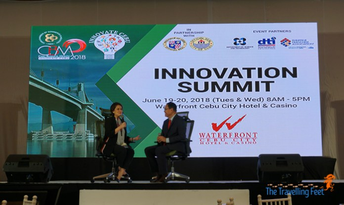 aireen omar at the innovation summit in cebu