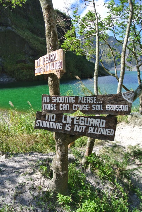 Mount Pinatubo Signs