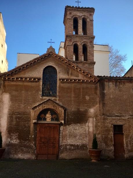 Trastevere medievale Santa Maria in Cappella
