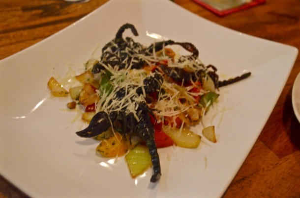 Scorpion salad at the Bugs Cafe, Siem Reap, Cambodia