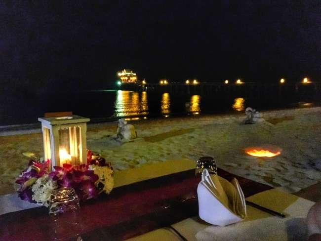 santhiya koh yao yai beachside dinner