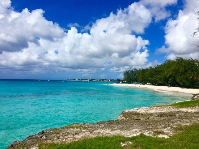Miami beach in Barbados, Caribbean