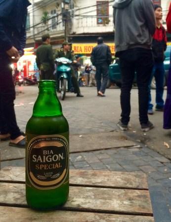Beer at bia corner Hanoi