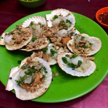 Vietnamese food scallops