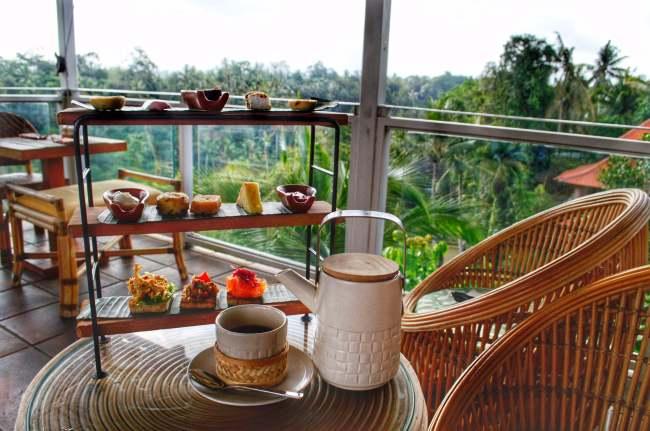 Afternoon tea at Bisma Eight, Ubud, Bali, Indonesia