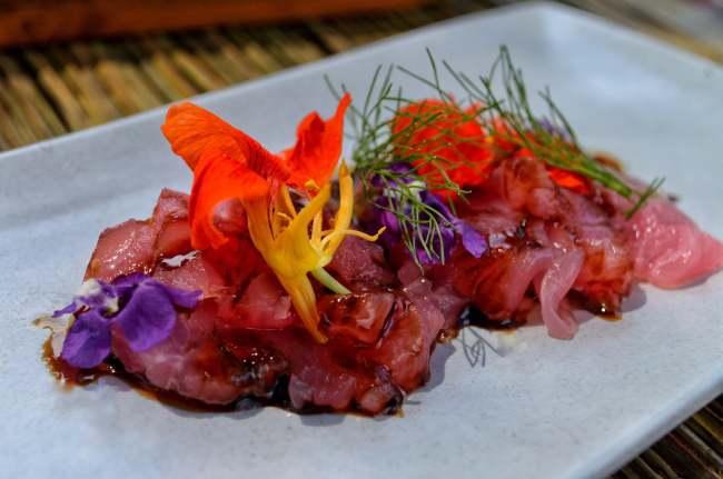 Tuna sashimi at Copper, Bisma Eight, Ubud, Bali, Indonesia