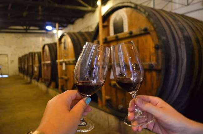 Port tasting at Symington's Quinta do Vesuvio, Douro Valley, Porto, Portugal