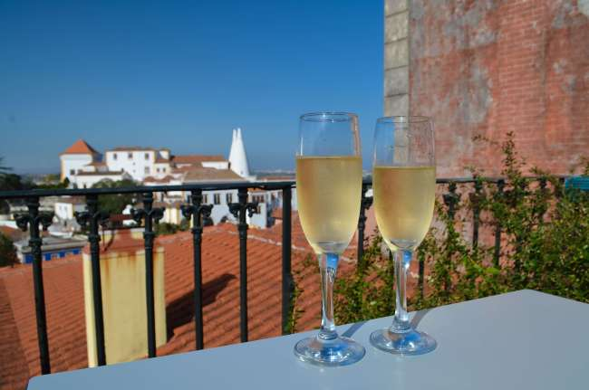 Dona Maria panoramic terrace and wine, Sintra, Portugal