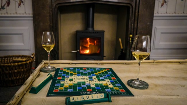 Staying at the Forest Side, Grasmere, Cumbria - Scrabble by the fire