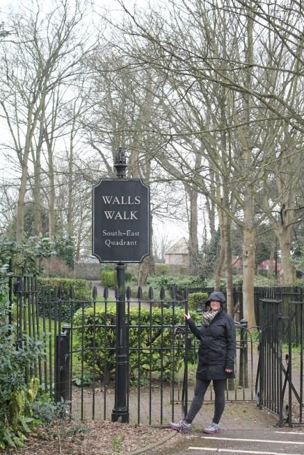 Molly at Walls Walk Entrance
