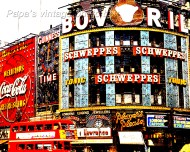 Piccadilly Circus London sixties