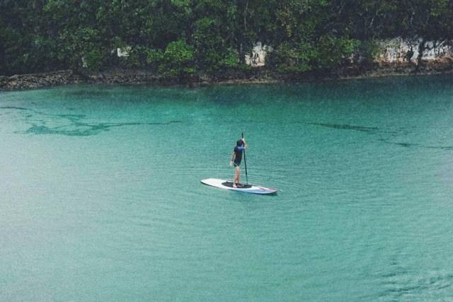 Paddle Boarding in Sugba Lagoon