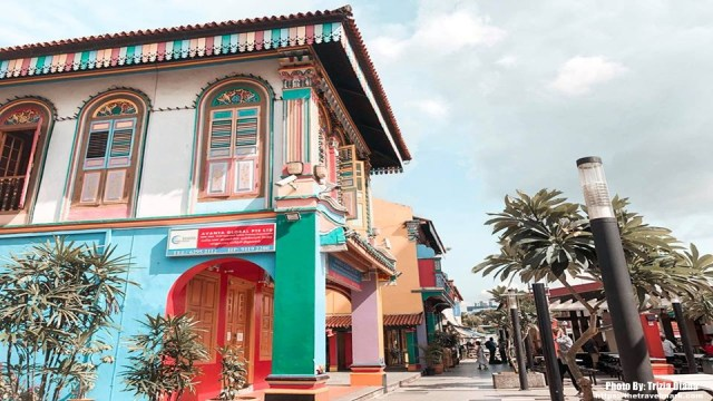 Colorful Houses In Little India Singapore