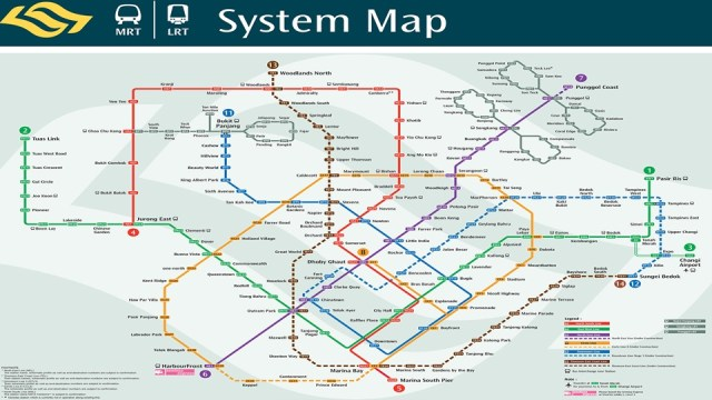 Singapore MRT LRT System Map Route - Singapore Malaysia DIY Travel Guide