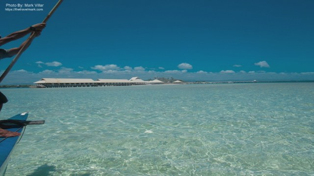 Gilutongan Island - View to Island And Sun Beach Resort