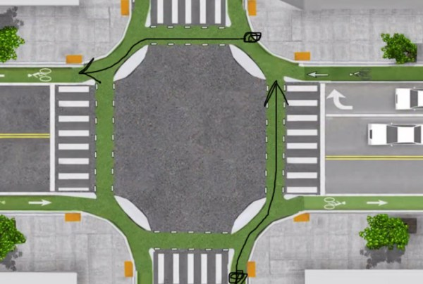 Diagram for turning left at an intersection | Biking in the Netherlands | Utrecht | The Travel Medley
