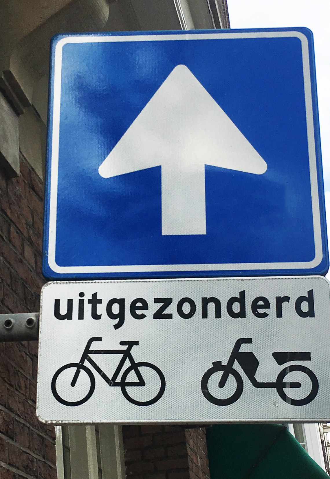 Uitgezonderd bike sign | Biking in the Netherlands | Utrecht | The Travel Medley