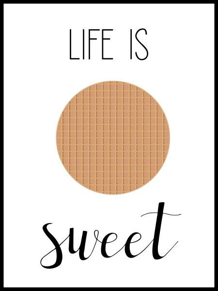 LIFE IS SWEET | Art Print | The Travel Medley