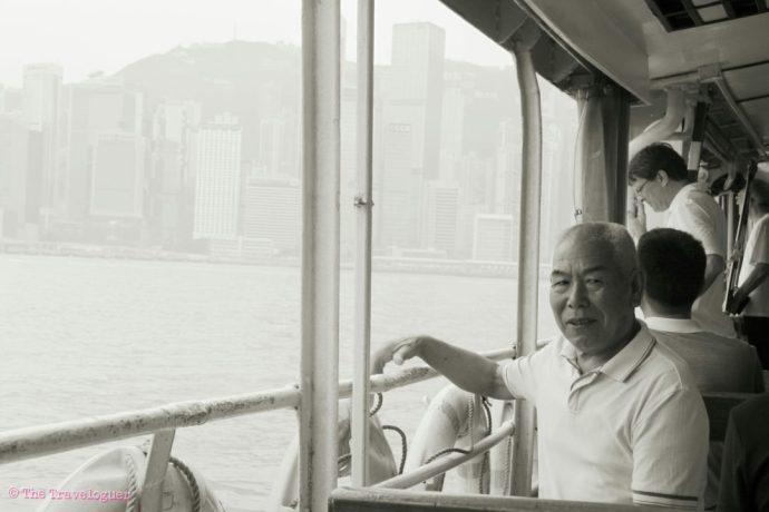thetraveloguer man on star ferry