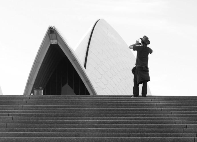 Sydney Opera House, Australia Monochrome black and white travel photography the traveloguer travel blog