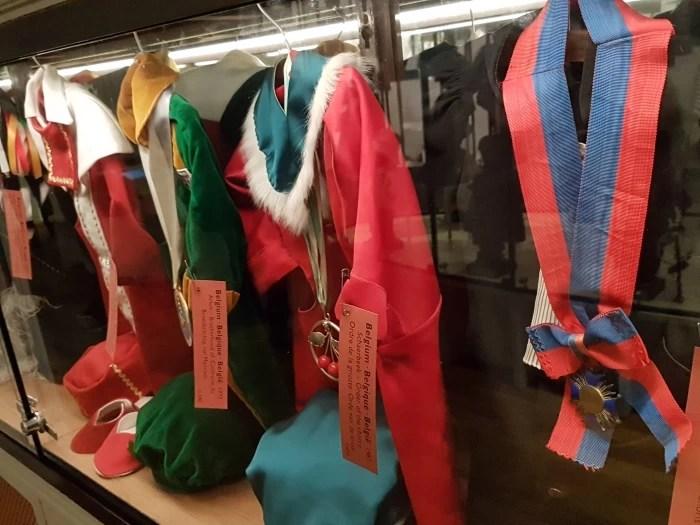 Costumes in the Manneken Pis Museum, the Garderobe Manneken Pis in Brussels, Belgium
