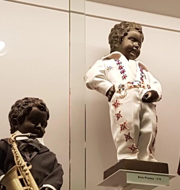Elvis Presley costume in the Manneken Pis Museum, the Garderobe Manneken Pis in Brussels, Belgium