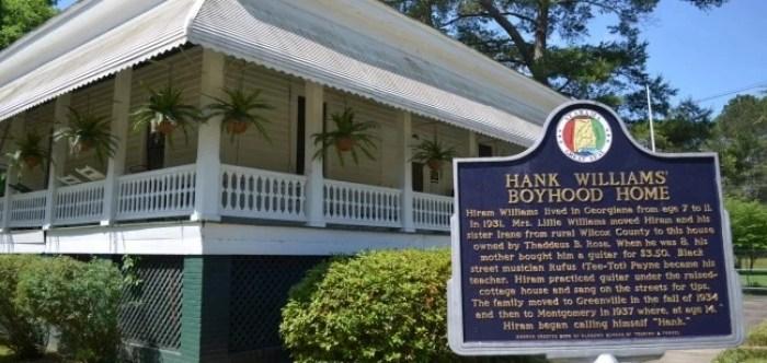 Hank Williams's Boyhood Home in Georgiana, Alabama
