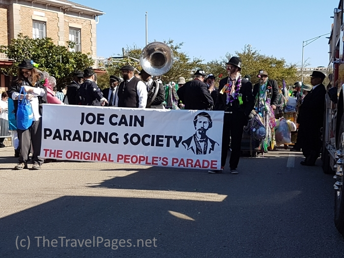 The Joe Cain Parading Society in Mobile, Alabama, home of the USA's first Mardi Gras celebrations.