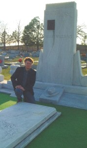 The Author at Hank Williams's Grave in Montgomery, Alabama